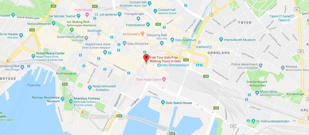 tour gratis mapa de oslo